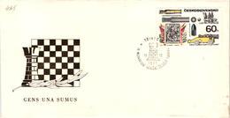 Chess Schach Echecs Ajedrez -Czecoslovakia. Trinec 1973- 9th International Christmas Tournament - Souvenir Cover CKM 425 - Echecs