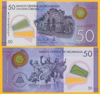 Nicaragua 50 Cordobas P-211 2014 UNC Polymer Banknote - Nicaragua