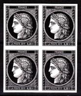 Cérès Bloc De 4 X 0.20 €  Non Dentelé, 170 Ans Du Premier Timbre De France 1849/2019 - Neufs