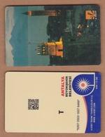 AC - BUS, TRAM PLASTIC CARD FOR PUBLIC TRANSPORTATION ANTALYA, TURKEY - Titres De Transport