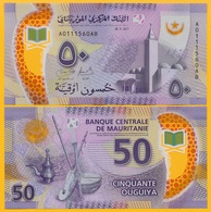 Mauritania 50 Ouguiya P-new 2017 UNC Polymer Banknote - Mauritania