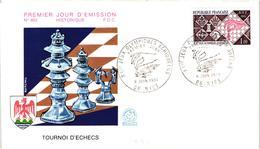 Chess Schach Echecs Ajedrez -France. Nice 1974 - 21st Chess Olympiad - FDC CKM 439bc - Echecs