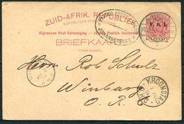 1901 Boer War V.R.I. Stationery Postcard Johannesburg - Winberg O.F.S. Via Kroonstad. 'Passed Press Censor' - Nuova Repubblica (1886-1887)