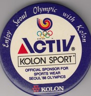 Badge Olympic Games Seoul 1988 88 Olympics Olympia Kolon Sport Activ - Giochi Olimpici