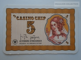 D163023  Altenburg-Stralsunder - Casino Chip  5- Sample Playing Card (both Sides Same Printing) - Cartes De Casino