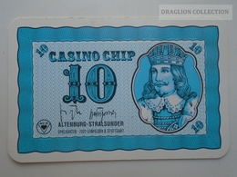 D163024  Altenburg-Stralsunder - Casino Chip  10 - Sample Playing Card (both Sides Same Printing) - Cartes De Casino