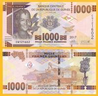 Guinea 1000 Francs P-48 2017 UNC Banknote - Guinea