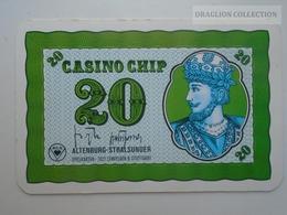 D163025  Altenburg-Stralsunder - Casino Chip  20 - Sample Playing Card (both Sides Same Printing) - Casino Cards