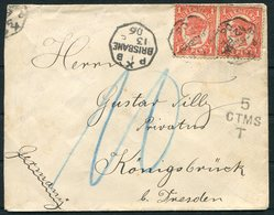 1906 Queensland Brisbane Postage Due, Taxe Cover - Konigsbruck Dresden Germany - Briefe U. Dokumente