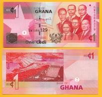 Ghana 1 Cedi P-37e 2015 UNC Banknote - Ghana