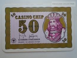D163026  Altenburg-Stralsunder - Casino Chip  50 - Sample Playing Card (both Sides Same Printing) - Cartes De Casino