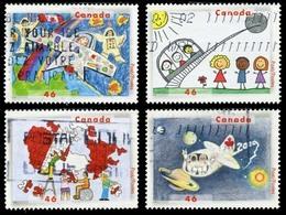 Canada (Scott No.1859-62 - Stampin' The Future) (o) Set - 1937-1952 Règne De George VI