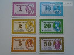 D163028  Altenburg-Stralsunder - Casino Chip  1 2 5 10 20 50  - Sample Playing Card (both Sides Same Printing) - Cartes De Casino