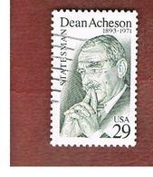 STATI UNITI (U.S.A.) - SG 2790  - 1993 D. ACHENSON, STATE SECRETARY   - USED - Used Stamps