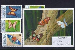 Grenadines. Papillons - Grenade (1974-...)