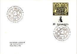 Chess Schach Echecs Ajedrez - Hungary. Budapest 1974 - 30th Hungarian Championship - Card CKM 461 - Echecs
