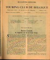 « SAINT-TROND, La Capitale De La Cerise Belge » Article Extrait Du « Bulletin Du Touring Club De Belgique » - 15/01/1931 - Libros, Revistas, Cómics