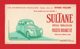Buvard Buvards Citroen 2cv Astral-Celluco SULTANE Special Terrazolith Poliseul Brillance 82 - Auto's