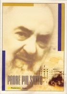 Padre Pio Santo - Anno 2002 - Folder Normale - 1946-.. République