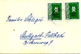 RDA. N°261 De 1956 Sur Enveloppe Ayant Circulé. Dentelle. - Textile