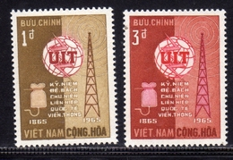 VIET NAM VIETNAM 1965 UIT ITU COMPLETE SET SERIE COMPLETA MNH - Vietnam