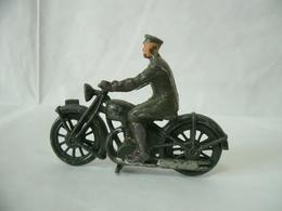 Britains Vintage Piombo Esercito Britannico #1791 Royal Segnale MOTO Dispatch Ride - Miniature