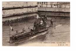 Bateau De Guerre Marine Militaire Française Sous Marin Meduse Cpa Carte Animée - Guerre