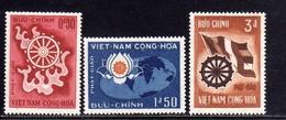 VIET NAM VIETNAM 1965 BUDDHA'S BIRTH ANNIVERSARY ANNIVERSAIRE DE NAISSANCE BOUDDHA BUDDA COMPLETE SET SERIE COMPLETA MNH - Vietnam