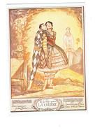 Cpm - Illustration Les Sept Péchés Capitaux LA COLÈRE - Pierrot Arlequin Ange Arc - André Lambert - Peintures & Tableaux