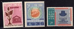 VIET NAM VIETNAM 1966 UNESCO COMPLETE SET SERIE COMPLETA MNH - Vietnam