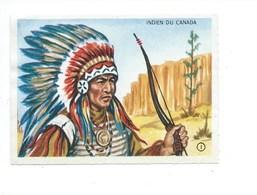Indien Du Canada Indian Of Canada Peaux Rouges Race Chromo TB 90 X 65 Mm Comme Neuve Dos Blanc Pas De Pub. - Autres