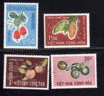 VIET NAM VIETNAM 1967 TROPICAL FRUITS TROPICAUX FRUTTI TROPICALI COMPLETE SET SERIE COMPLETA MNH - Vietnam