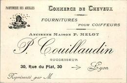 9) Carte De Visite Apiculture Commerce De Cheveux ...Coiffeurs Couillaudin LYON - Visiting Cards