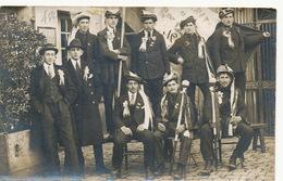 Carte Photo  Conscrits Boulleret 1929  Cocarde Pub Byrrh - Autres Communes