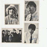 4 CARTE A COLLECTIONNER - BEATLES - 2ND SERIES - N°90, 94,96,101 - USA - 1964 - Autres Collections