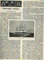 « Chronique Nautique – Les Coureurs De Thé » Article Extrait Du « Bulletin Du Touring Club De Belgique » - 30/06/1910 - Bateaux