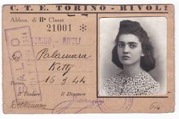 TESSERA - ABBONAMENTO TRASPORTO -  TICKET  - ANNO  1944 - Abonnements Hebdomadaires & Mensuels