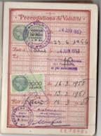 Fiscal 3200F + 1000F Sur Passeport 1953 Pour 1000F Et 1958 Pour 3200F TTB état Complet - Steuermarken