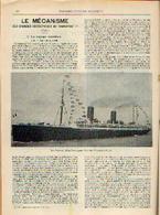 « Le Voyage Maritime – La Vie à Bord » Partie Complète D'un Article Extrait Du « Bulletin Du Touring Club ----> - Bateaux
