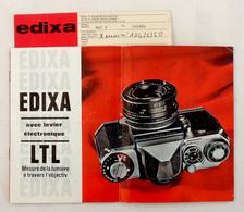 Vintage Fascicule Publicitaire Couleur Appareils EDIXA En Français 1966 Prismat LTL, PrismaFlex LTL, MAT-D & Accessoires - Appareils Photo