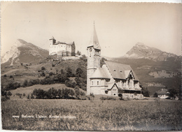 Liechtenstein - Balzers - Kirche U Schloss (1958, Foto Gross) - Liechtenstein