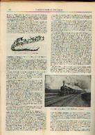 « Le Voyage Terrestre Jadis Et Aujourd'hui» Partie Complète D'un Article Extrait Du « Bulletin Du Touring Club ---> - Chemin De Fer