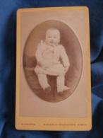 Photo CDV  Crespon à Nimes  Bébé Joufflu Souriant  Bras De Maintien Visible  CA 1880 - L434 - Anciennes (Av. 1900)