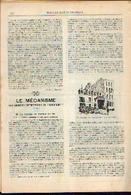« Le Voyage Terrestre - Fonctionnement D'une Gare Moderne» Partie Complète D'un Article Extrait Du « Bulletin Du ---> - Chemin De Fer