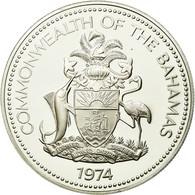 Monnaie, Bahamas, Elizabeth II, 2 Dollars, 1974, Franklin Mint, U.S.A., SUP - Bahamas