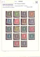 1907  **  Kleine Sammlung - Bosnie-Herzegovine
