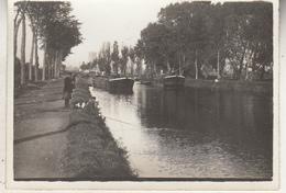 Canal - Péniches - à Siter - Kanaal, Aken, Te Situeren - Photo Format 6.5 X 9 Cm - Places