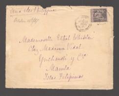 1887  Devant De Lettre Pour Les PHILIPPINES   Rare Destination. Yv 97 - 1876-1898 Sage (Type II)