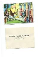Villa Gallo-Romaine Pillée Par Les Barbares Chromo De La Caisse D'Épargne De Limoges 1960s TB 80 X 55 Mm - Autres