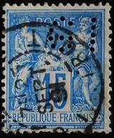 -Sage N°90 Type Ll. O PARIS Rue Taitbout.25 Sept 1891.Perforé G I - 1876-1898 Sage (Type II)